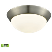 Contours LED 11 inch Satin Nickel Flush Mount Ceiling Light, Medium