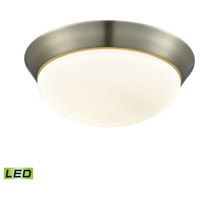 Contours LED 13 inch Satin Nickel Flush Mount Ceiling Light, Large
