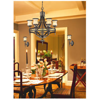 ELK 2431/6 Georgian Court 6 Light 31 inch Antique Bronze & Dark Umber Chandelier Ceiling Light in Standard alternative photo thumbnail