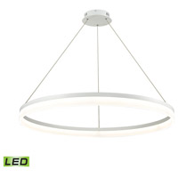 ELK LC2401-N-30 Cycloid LED 40 inch Matte White Pendant Ceiling Light, Large