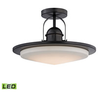 ELK LC412-10-45 Montebello LED 15 inch Oiled Bronze Semi Flush Mount Ceiling Light