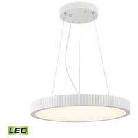 ELK LC603-10-30 Digby LED 22 inch Matte White Pendant Ceiling Light