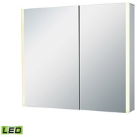 ELK LMC3K-3227-EL2 LED Lighted Mirrors 32 X 28 inch Brushed Aluminum Wall Mirror photo thumbnail