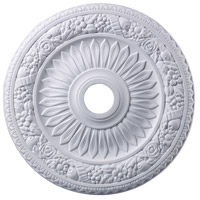 ELK M1006WH Floral Wreath White Medallion