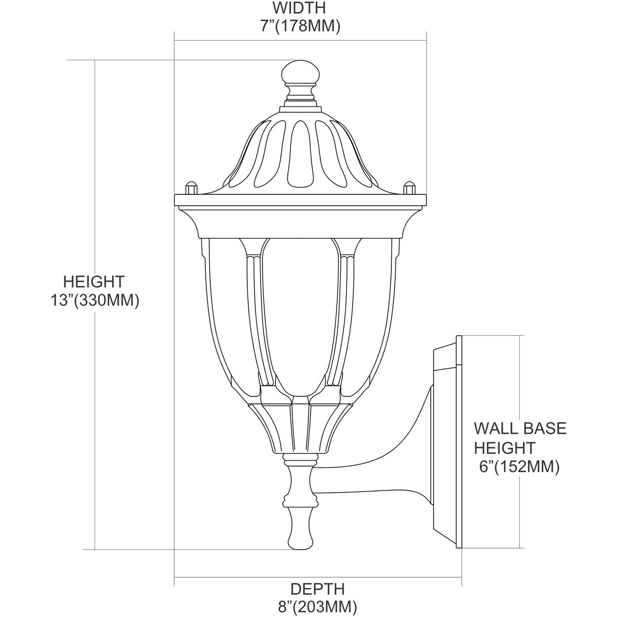 ELK Lighting 45000/1 Glendale 1 Light 13 Inch Regal Bronze