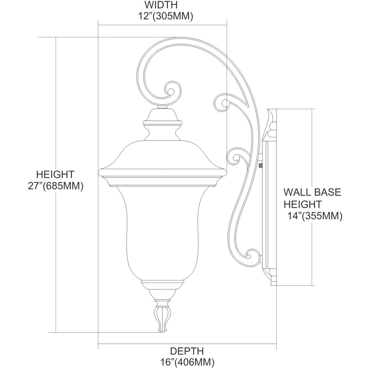 ELK Lighting 45022/3 Lafayette 3 Light 27 Inch Regal