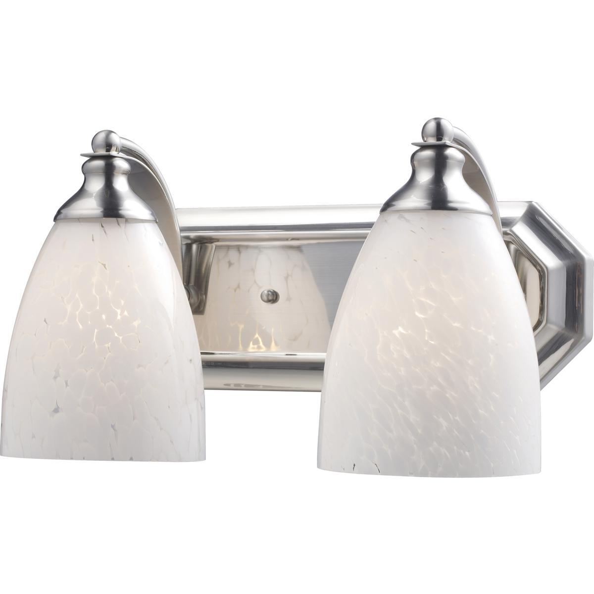 Satin Nickel Ceiling Lights Bathroom Vanity Chandelier: ELK Lighting 570-2N-SW Bath And Spa Bathroom Vanity Light