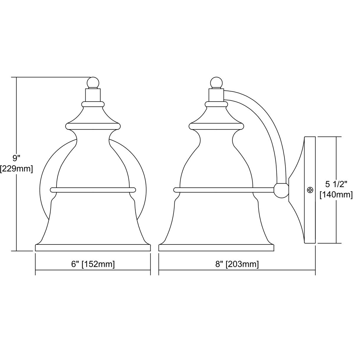 ELK Lighting 57150/1 Langhorn 1 Light 9 Inch Oil Rubbed