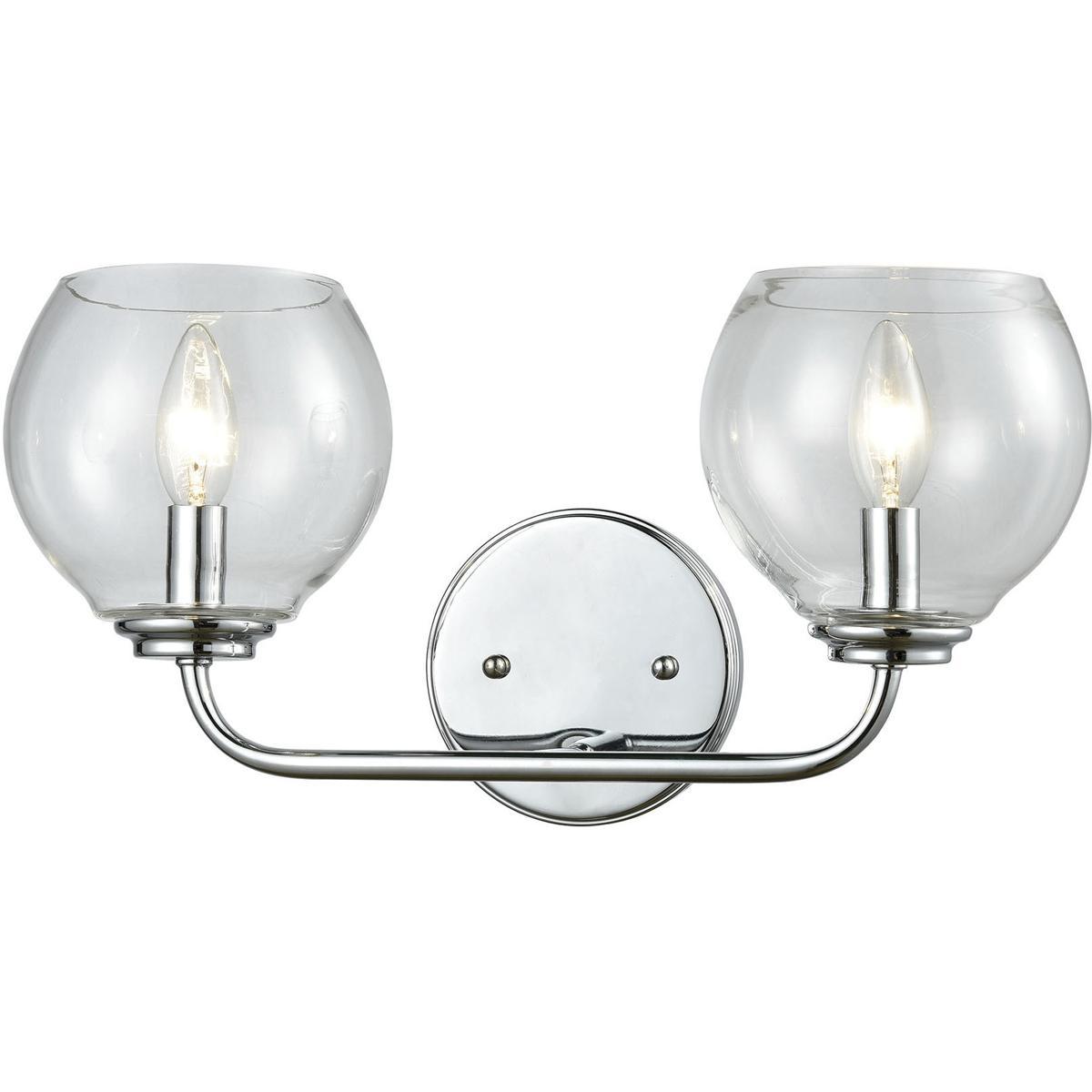 Elk lighting 81361 2 emory bathroom vanity light polished chrome