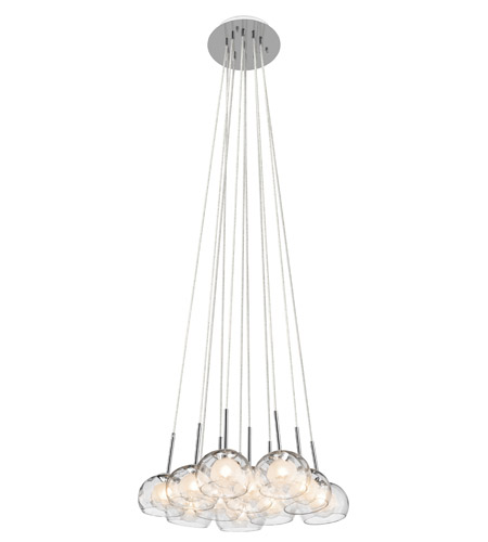Elan Niu 11 Light Pendant in Chrome