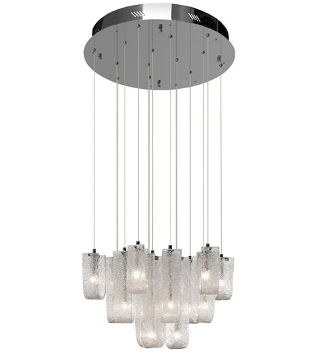 Elan 83094 zanne 15 light chrome pendant ceiling light aloadofball Images