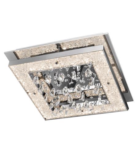 elan crushed ice led chrome flush mount ceiling light photo 26 watt fixture reviews youtube