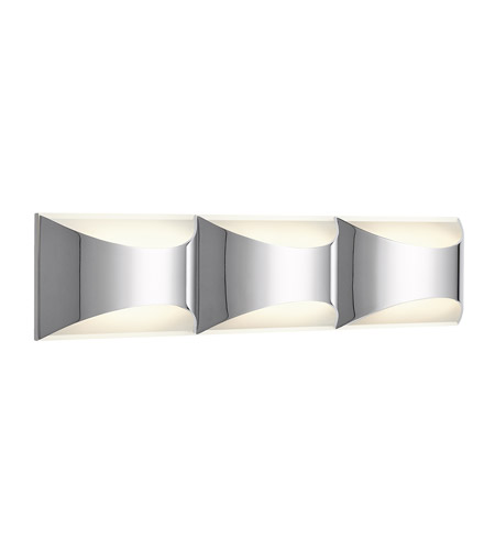 Elan 83525 Adalynn LED 24 inch Chrome and Matte White Vanity Wall Light photo