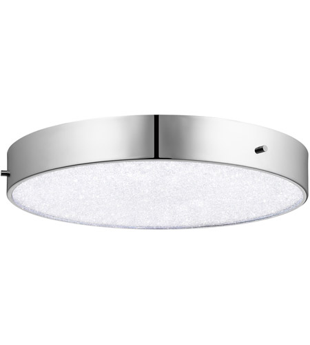 Led 16 Inch Chrome Flush Mount Ceiling