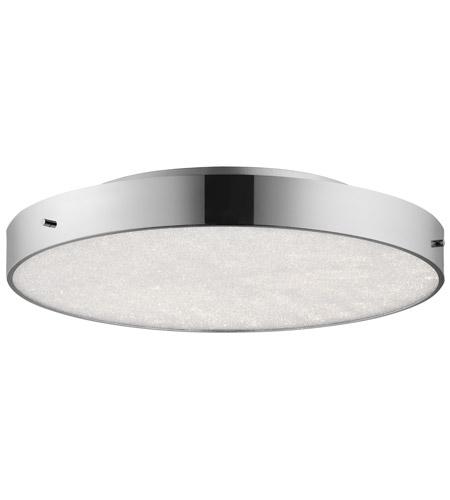 elan crystal moon led chrome flush mount ceiling light