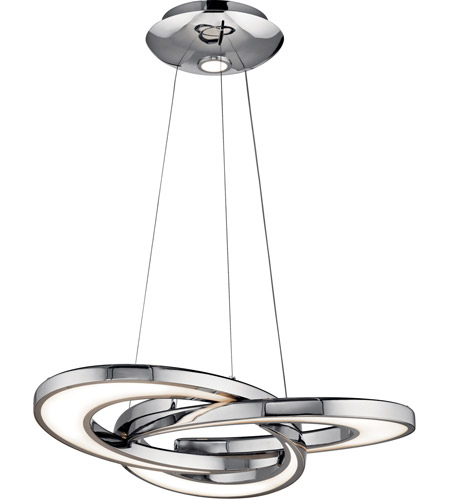 Elan 83619 destiny led chrome chandelier round pendant ceiling light aloadofball Choice Image