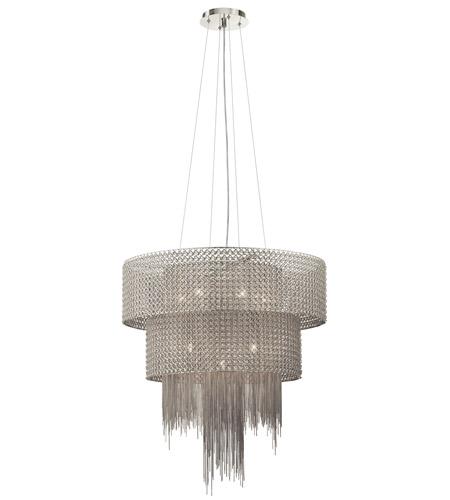 Elan 83681 elauna 10 light brushed nickel chandelier ceiling light aloadofball Image collections