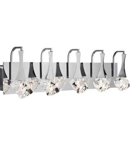 Elan 83777 Rockne LED 32 inch Chrome Vanity Light Wall Light