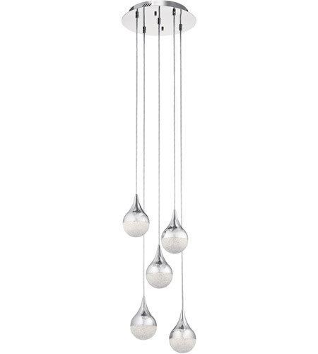 Elan 83948 kiss led chrome pendant ceiling light spiral aloadofball Choice Image