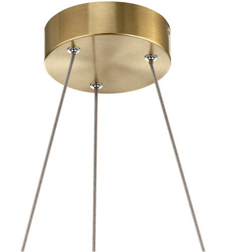Elan 84068CG Arabella LED 21 inch Champagne Gold Chandelier Ceiling Light alternative photo thumbnail