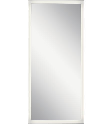Elan 84172 Ryame 60 X 30 Inch Silver Matte Lighted Mirror