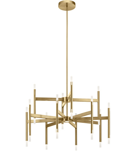 elan 84178 kizette led 32 inch champagne gold chandelier ceiling light 2 tier