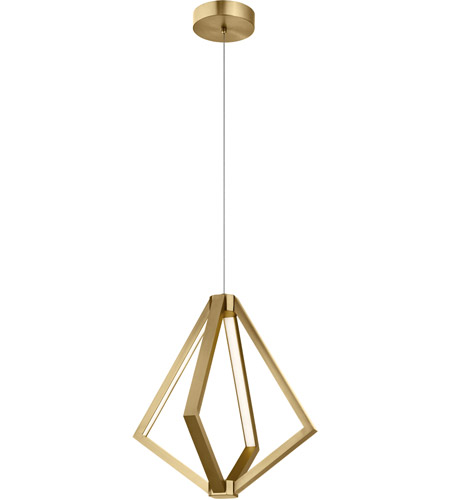 Elan 84198 Everest Led 18 Inch Champagne Gold Pendant Ceiling Light