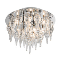 Elan Alveare 12 Light Flush Mount in Chrome 83022