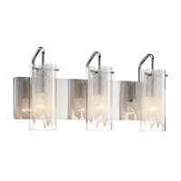 Krysalis 3 Light 20 inch Chrome Vanity Wall Light