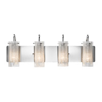 Krysalis 4 Light 27 inch Chrome Vanity Wall Light