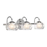 Niu 3 Light 23 inch Chrome Vanity Wall Light