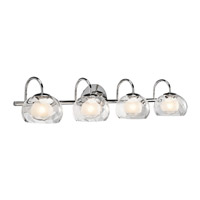 Niu 4 Light 32 inch Chrome Vanity Wall Light