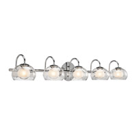 Elan Niu 5 Light Vanity in Chrome 83078