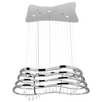 Kascade LED 23 inch Chrome Chandelier Ceiling Light