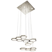 Elan 83124 Hexel LED 22 inch Brushed Aluminum Chandelier Ceiling Light