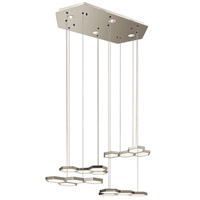 Elan Hexel LED Chandelier in Sand Nickel 83125