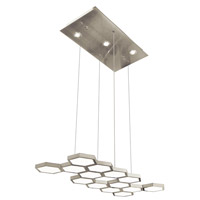 Elan Hexel LED Pendant in Brushed Aluminum 83128