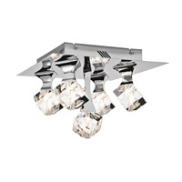 Rockne 5 Light 14 inch Chrome Flush Mount Ceiling Light