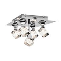Elan 83129 Rockne 5 Light 14 inch Chrome Flush Mount Ceiling Light