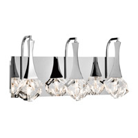 Rockne 3 Light 18 inch Chrome Vanity Wall Light