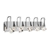 Elan 83137 Rockne 5 Light 32 inch Chrome Vanity Wall Light