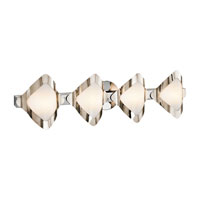 Mezzen 4 Light 30 inch Chrome Vanity Wall Light