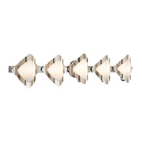 Mezzen 5 Light 37 inch Chrome Vanity Wall Light