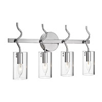 Elan Stilly 4 Light Vanity in Chrome 83170