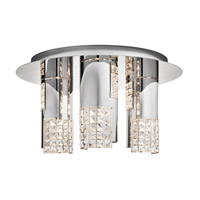 Elan Daudet 3 Light Flush Mount in Chrome 83171