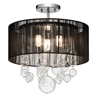 Elan Imbuia 3 Light Semi Flush in Chrome 83226