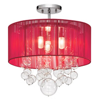 Elan Imbuia 3 Light Semi Flush in Chrome 83228