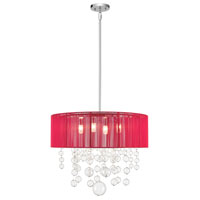 Imbuia 5 Light 24 inch Chrome Pendant Ceiling Light