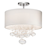 Piatt 3 Light Chrome Semi-Flush Ceiling Light