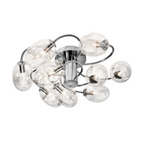 Elan Menicus 9 Light Semi-Flush in Chrome 83258
